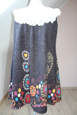Angel Eye A Line Dress multicolored wool