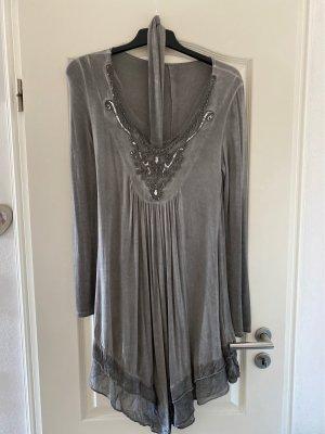 0039 Italy Sukienka tunika Wielokolorowy Bawełna