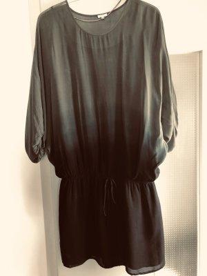 Tunika Kleid in batik Verlauf schwarz - Kaki
