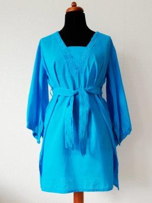 unbekannte Robe tunique bleu clair-turquoise