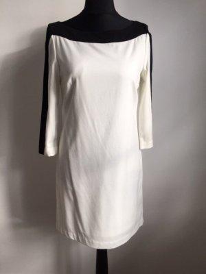 H&M Robe tunique blanc-noir