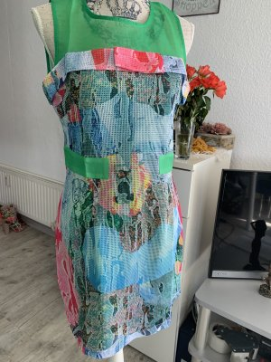 Tunika Kleid - MeshOptik - Green/Multicolor - Größe L 40 - Splash