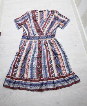 Tunic Dress red-blue