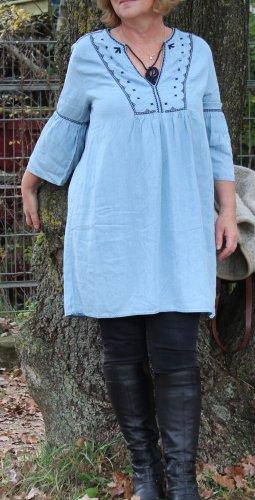 H&M Vestido tipo túnica azul celeste lyocell
