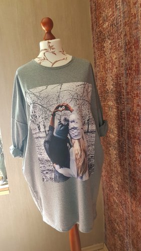 Made in Italy Robe Sweat argenté