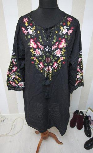 Sukienka tunika czarny Poliester
