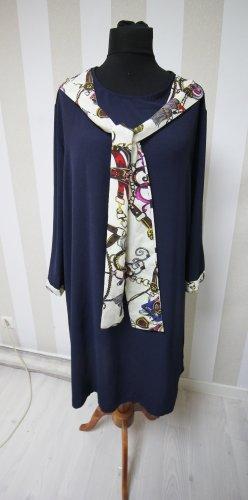 Vestido tipo túnica azul oscuro