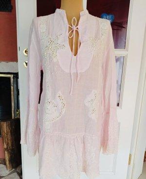 Antica Sartoria Tunic Dress pink-natural white