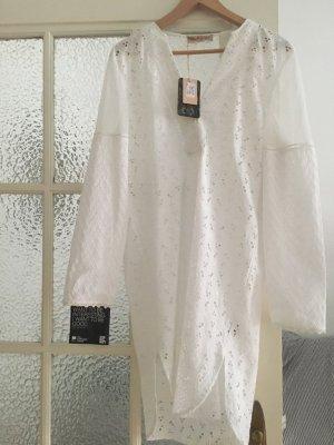 Robe tunique blanc coton