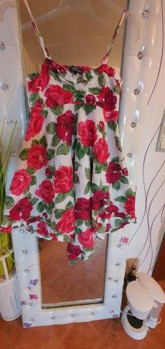 Sukienka tunika biały-czerwony