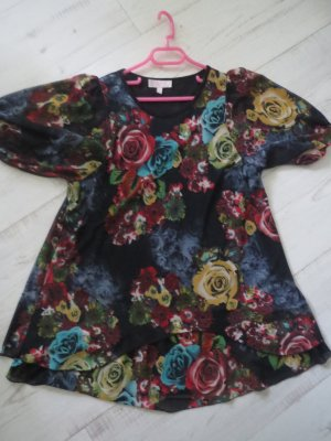 Tunika Kleidchen Tüll Zwielagig Rosen
