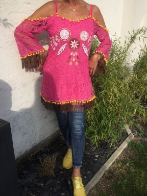 Tunika Lace pink yellow Summer