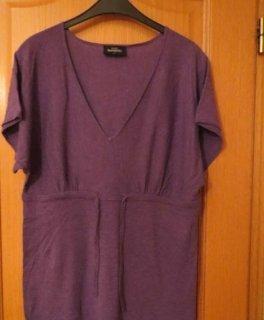 Gina Benotti Cárdigan largo violeta oscuro