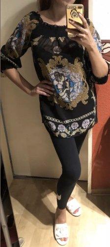 Tunika Longshirt in schwarz von Vivien Caron Print Gr. 34 Neu