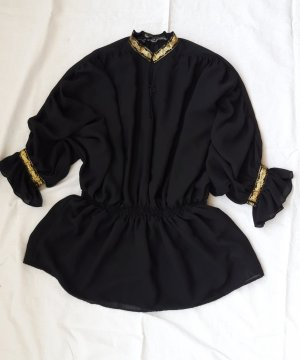 Tunika M 38 Bluse Gold shirt vintage retro 80er 90er