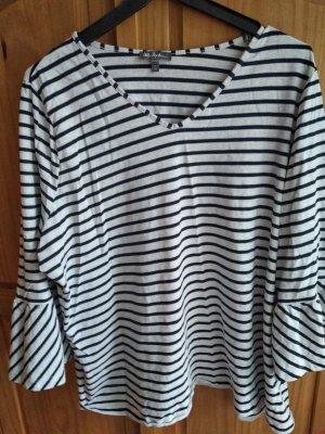 Ulla Popken Shirt Tunic white-dark blue