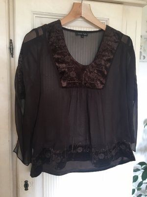Jennifer Taylor Kimono blouse donkerbruin