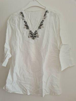 Italia Moda Blouse en lin blanc