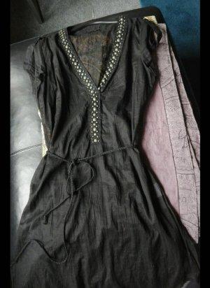 Tunika Nieten schwarz Baumwolle