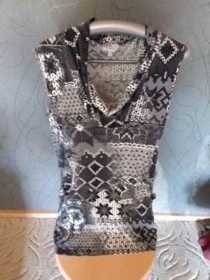 Vestido tipo jersey negro-blanco Viscosa