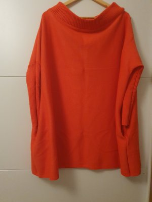 Swetrowa sukienka pomarańczowy