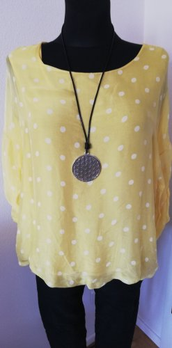 Made in Italy Tunic white-yellow