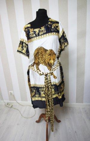 Camicia a tunica bianco-giallo-oro