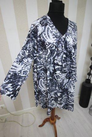 Camicia a tunica bianco-blu