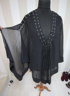 Camicia a tunica nero-argento