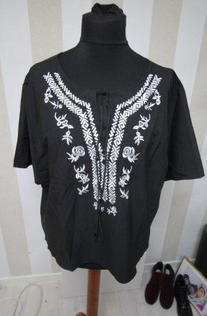 Tunique blanc-noir polyester