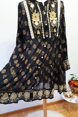 Hippie Dress black-sand brown cotton