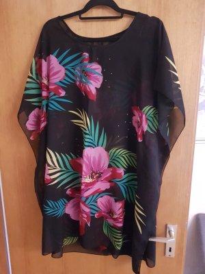 Vestido tipo túnica multicolor poliamida