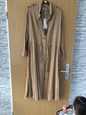 Robe tunique chameau-beige