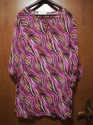 Tunika v. Couture Line, pink-gemustert mit Straßsteinchen-Besatz, ungetragen