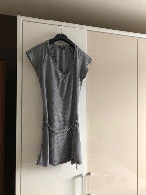 Anastacia Long Shirt white-black