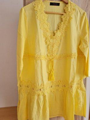 Aniston Casual Koronkowa bluzka żółty