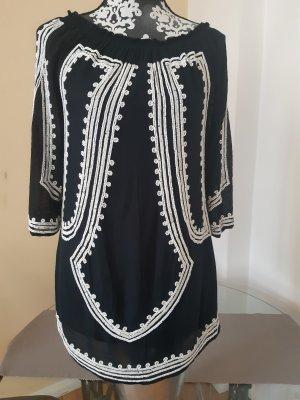 Zara Woman Tuniek zwart-wit Katoen