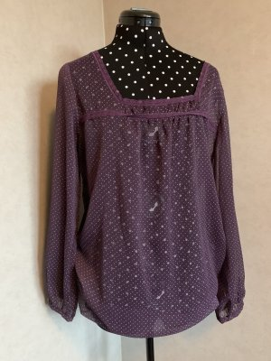 3 Suisses Transparent Blouse dark violet
