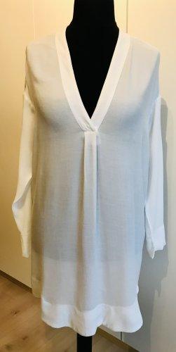 Gina Tricot Blusa de túnica blanco Viscosa