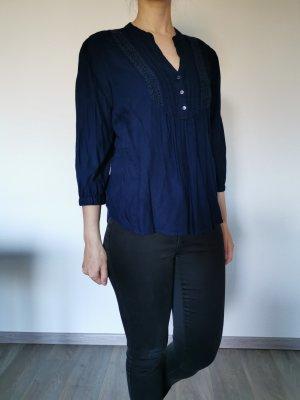 Vero Moda Bluzka tunika ciemnoniebieski