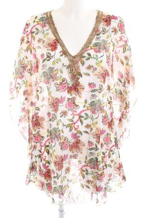Indian Emporium Tunikabluse Blumenmuster Casual-Look