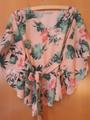 Mint&berry Kimono Blouse pink-forest green polyester