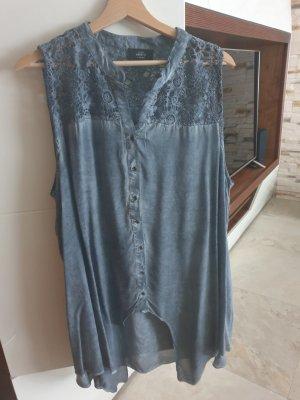 Tunic Blouse slate-gray-steel blue