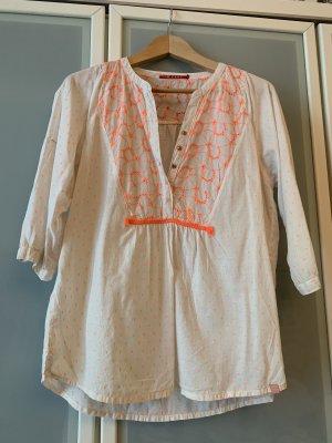 10 FEET Tunique-blouse blanc cassé-orange fluo