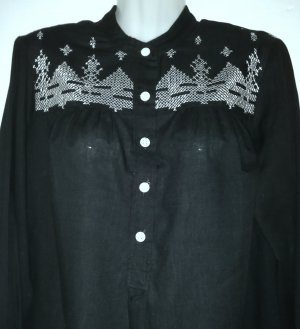 Pull de Noël noir-blanc tissu mixte