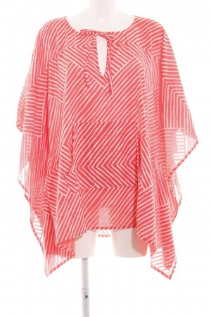 Tunikabluse rot-weiß Streifenmuster Casual-Look