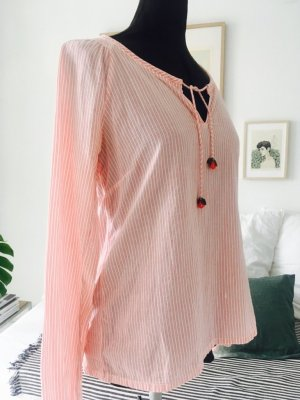 Campus by Marc O'Polo Tuniekblouse wolwit-rood Katoen