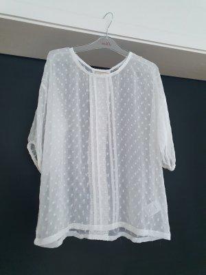 Cream Blusa de túnica blanco