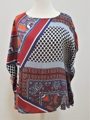 Nadine H. Blusa de túnica rojo-azul oscuro