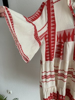 Tunic Dress natural white-red